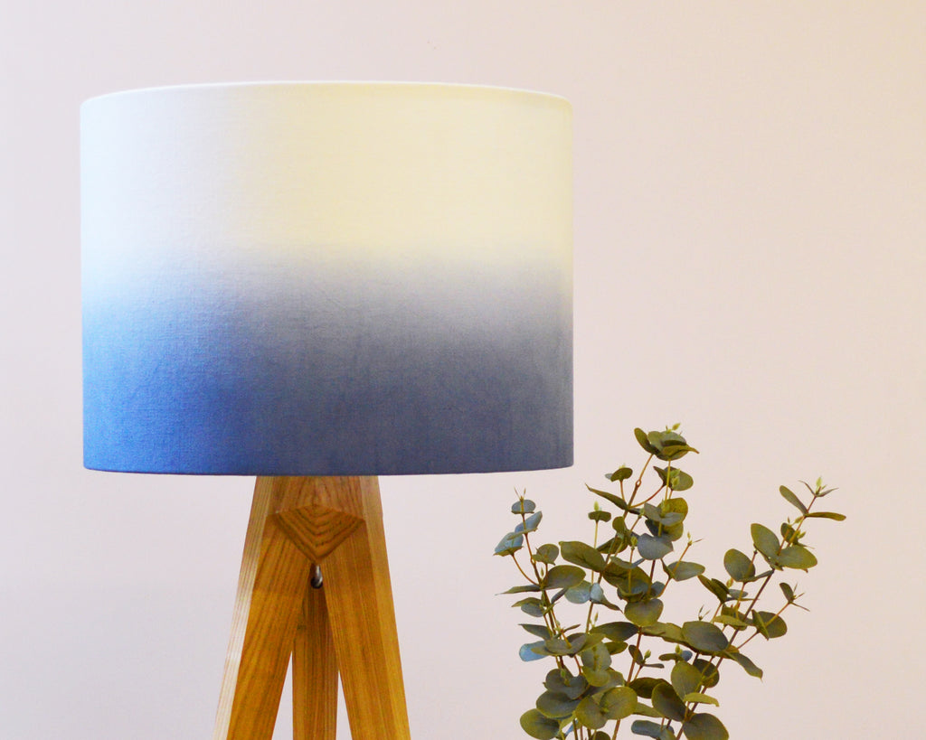 Navy Ombre Drum Lamp shade