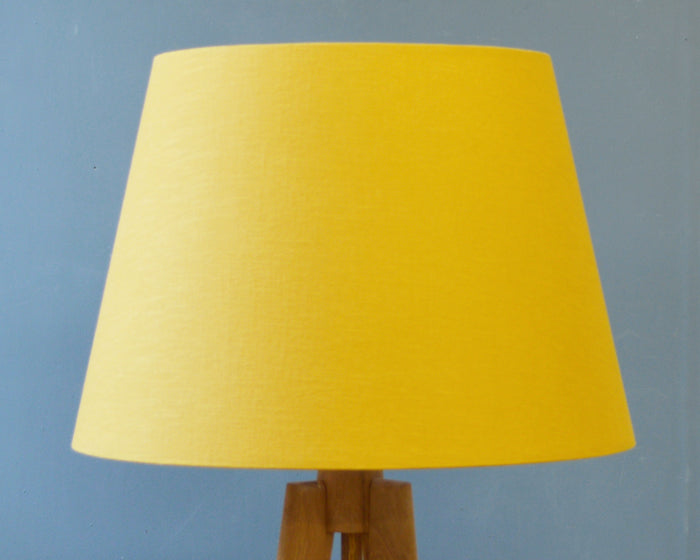 Mustard Linen Tapered Lampshade