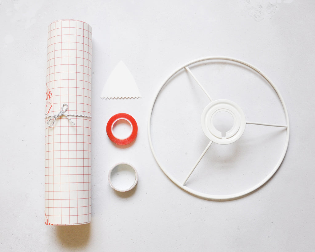 Lampshade Making Kit With Fabric - Large