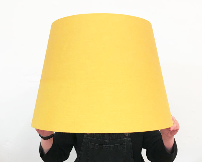 Mustard Linen Tapered Lampshade - Extra Large