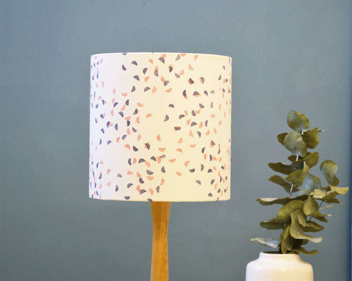 Navy Pink Patterned Lamp Shade