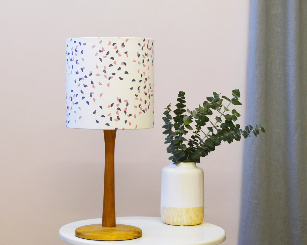 Navy and Pink Segments Drum Lampshade