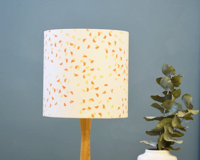 Orange Fabric Drum Lamp Shade