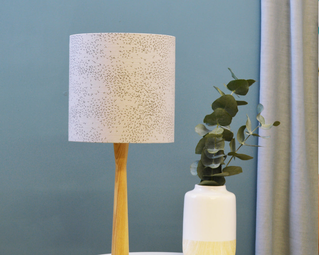 Grey Bird Table Lamp