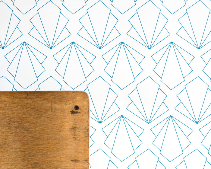 Turquoise Sunbeam Geometric Wallpaper