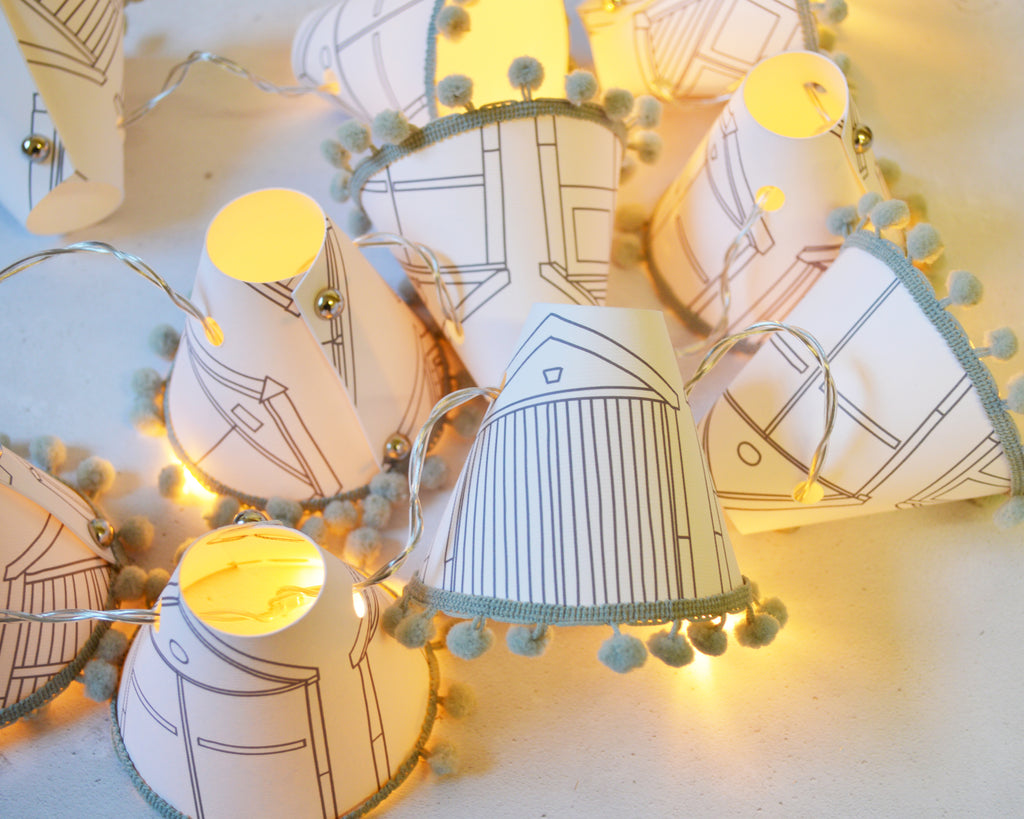 Beach Hut Grey Fairy Lights