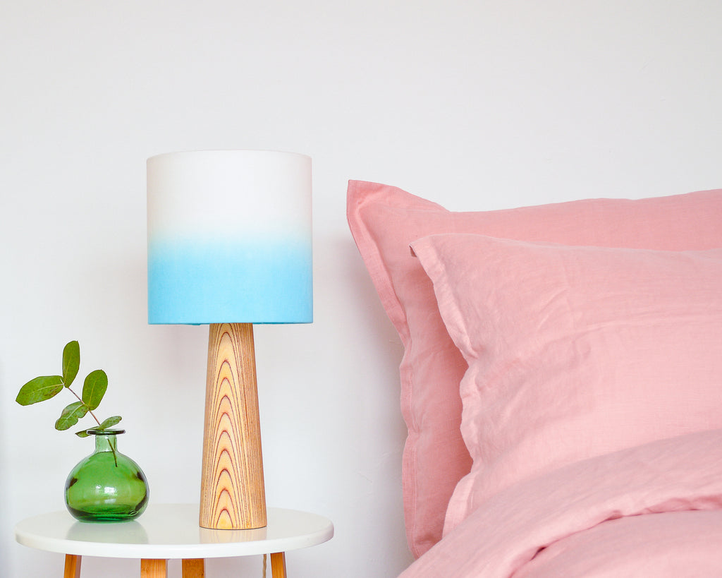 Blue Ombre Drum Lampshade - Lume + Juream Box
