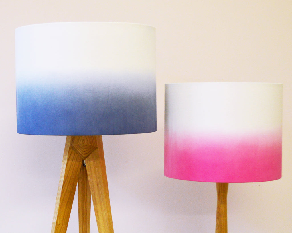 Navy Ombre Drum Lampshade - Lume + Juream Box