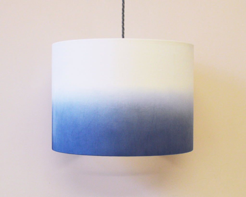 Blue Dip Dyed Ceiling Lamp Shade