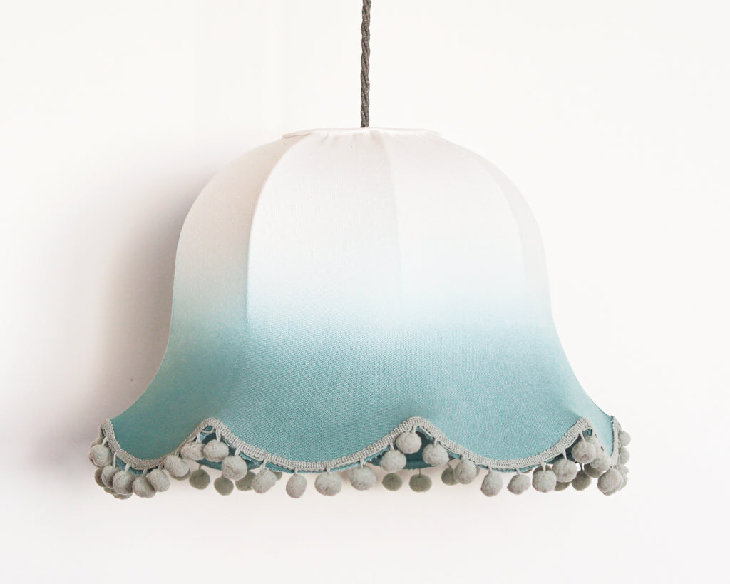 Emerald Ombre Traditional Lampshade - Lume + Juream Box