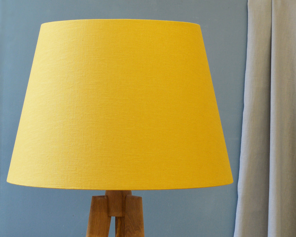 Large Mustard Floor Lamp