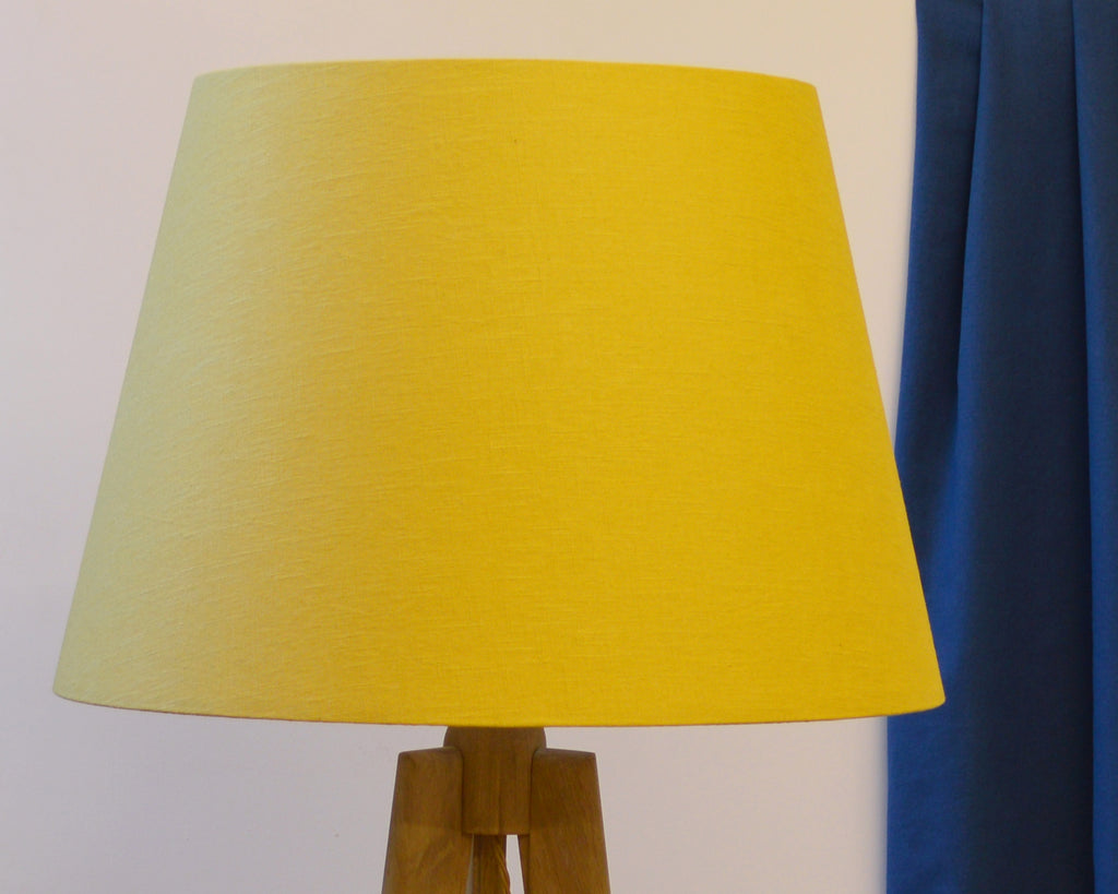 Yellow Tapered Plain Drum Lamp Shade