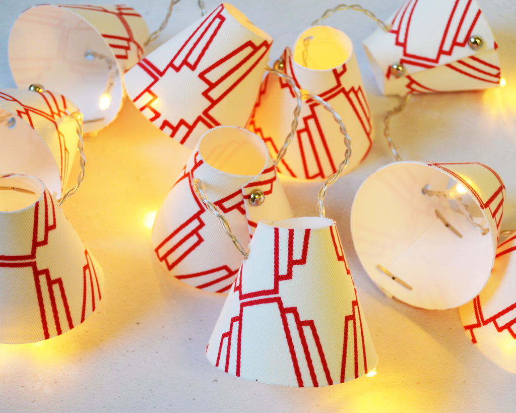 Red Geometric Fairy Lights