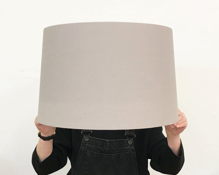 Grey Linen Tapered Lampshade - Large
