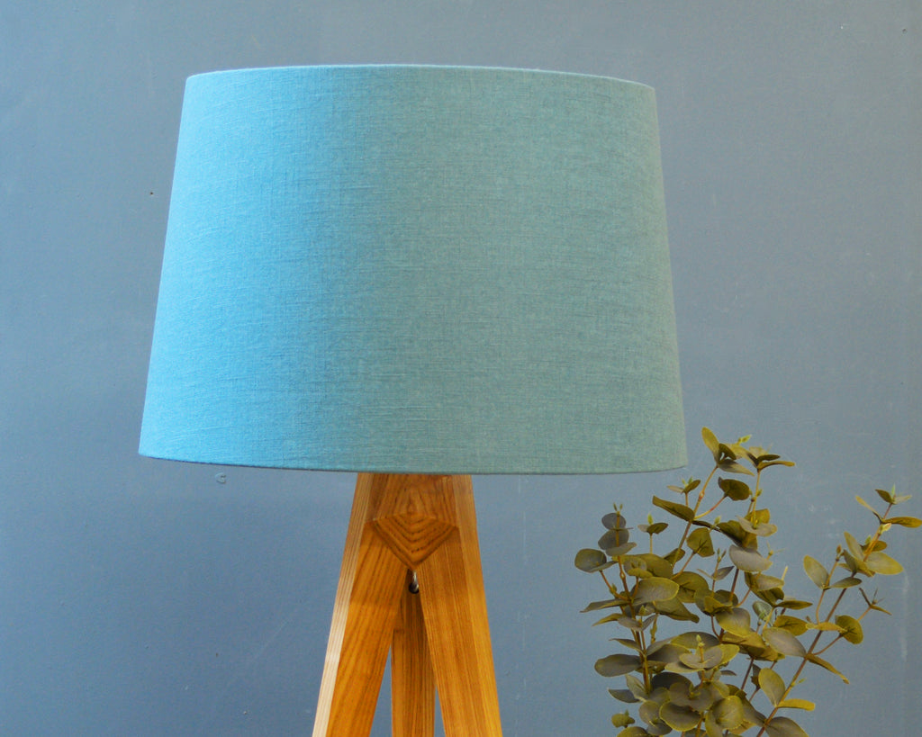 Teal Linen Tapered Lampshade