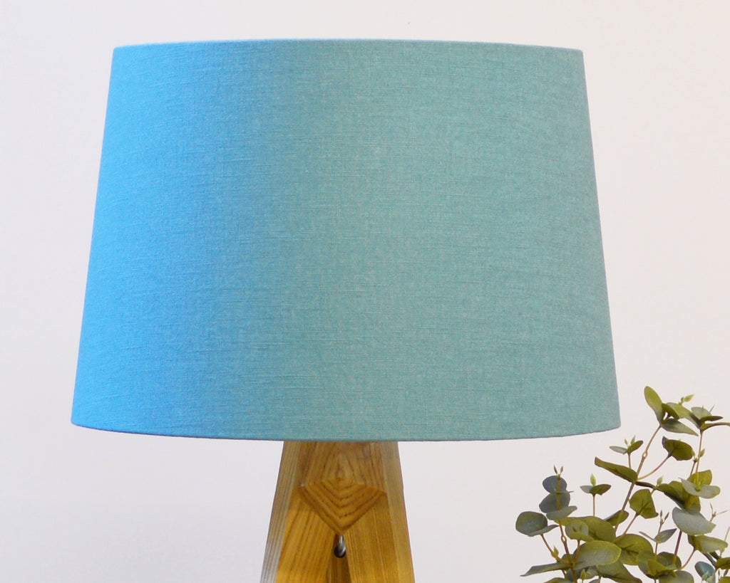 Teal Tapered Lampshade