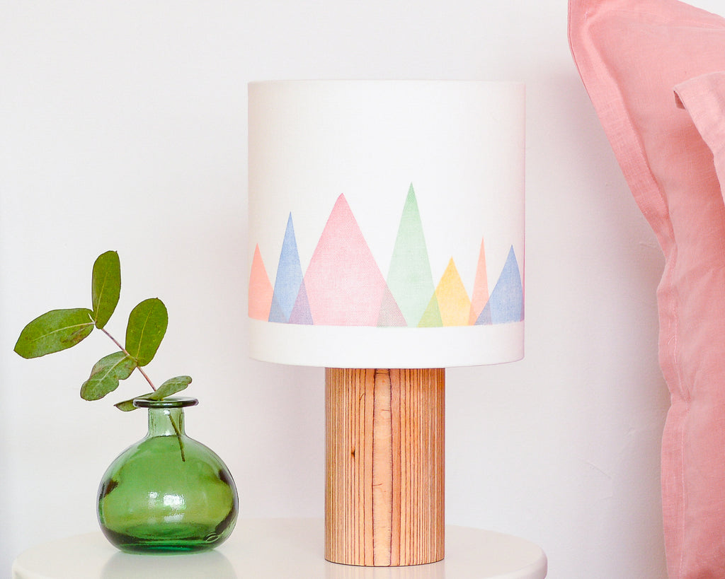 Colourful Mountains Drum Lampshade