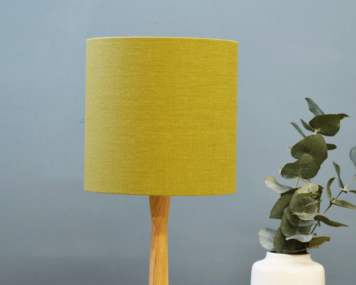 Green Fabric Drum Table Lampshade