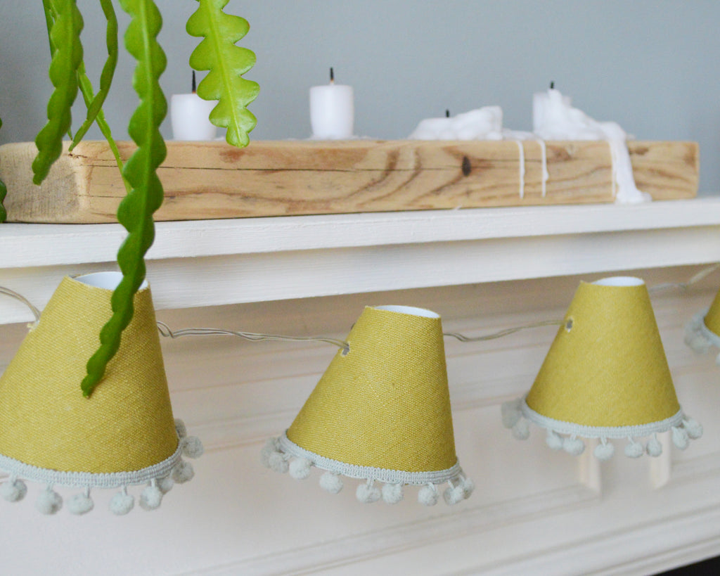 Olive Pom Pom Fairy Lights