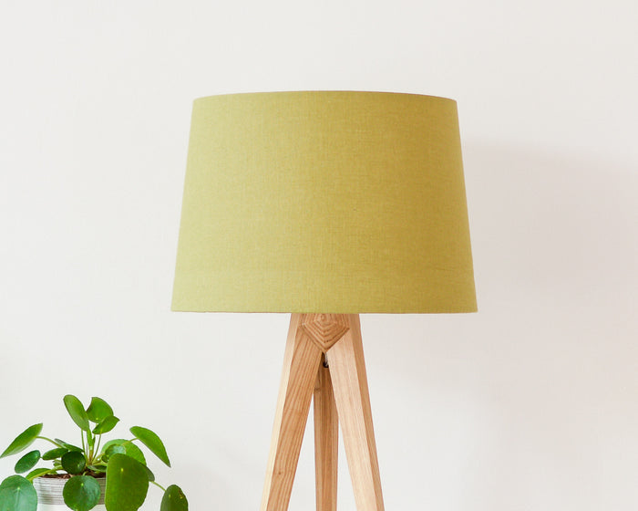 Olive Linen Tapered Lampshade