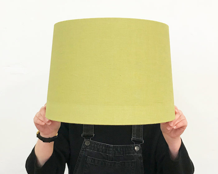 Olive Linen Tapered Lampshade - Medium
