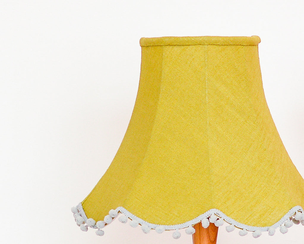 Olive Linen Traditional Table Lampshade