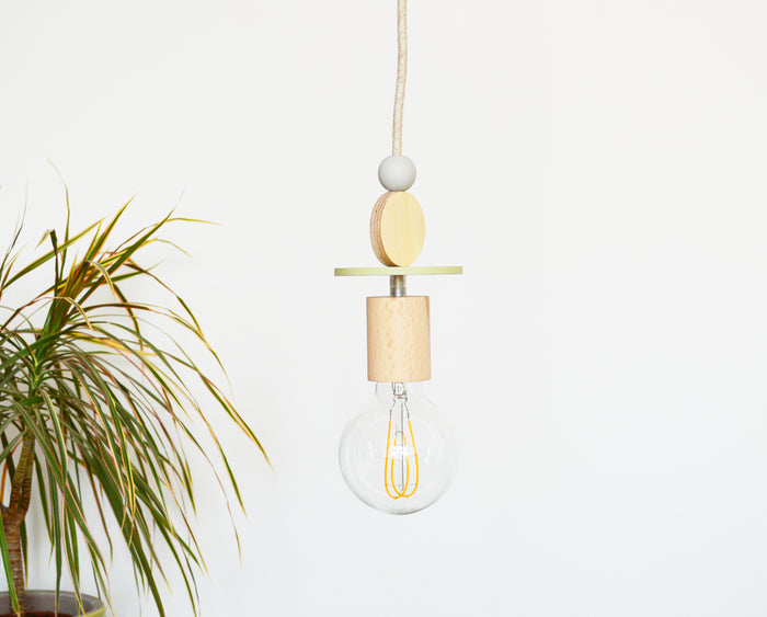 Dot + Wood Pendant Light