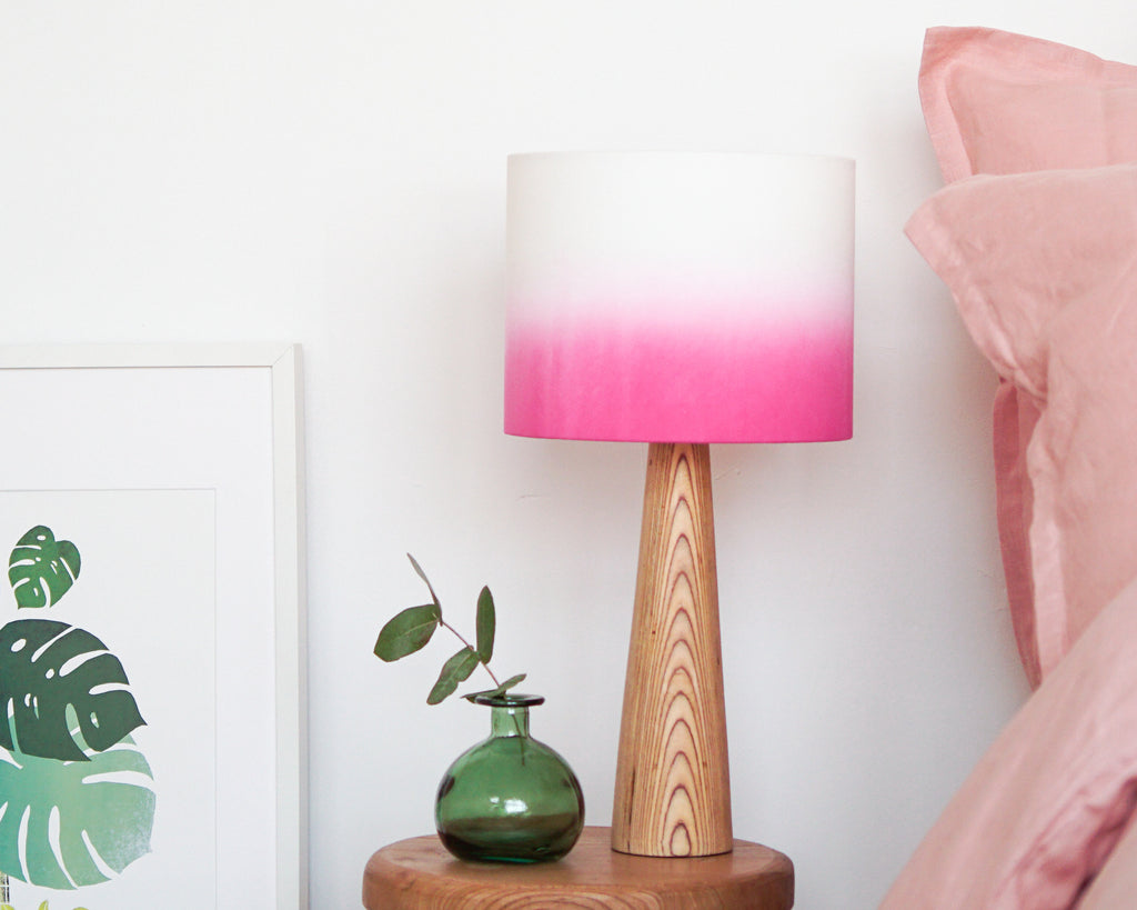 Pink Ombre Drum Lampshade - Lume + Juream Box