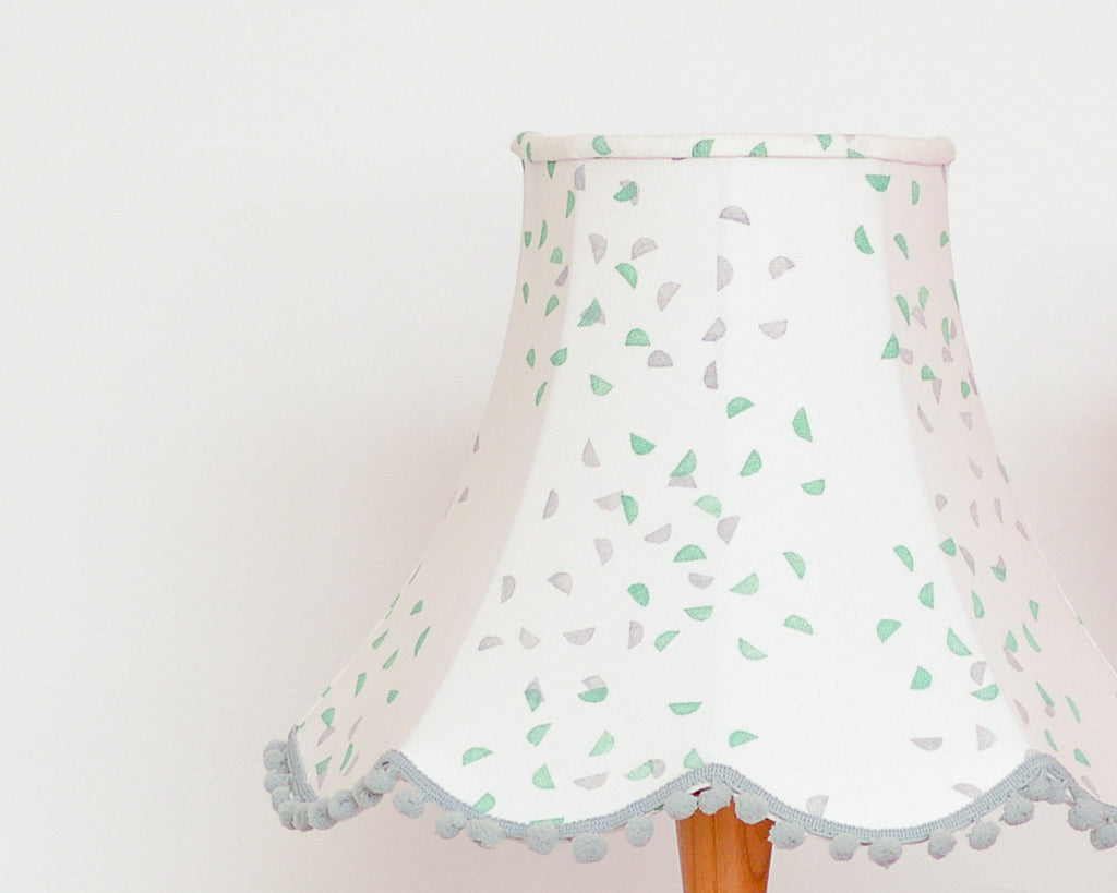 Green and Grey Segments Traditional Lampshade