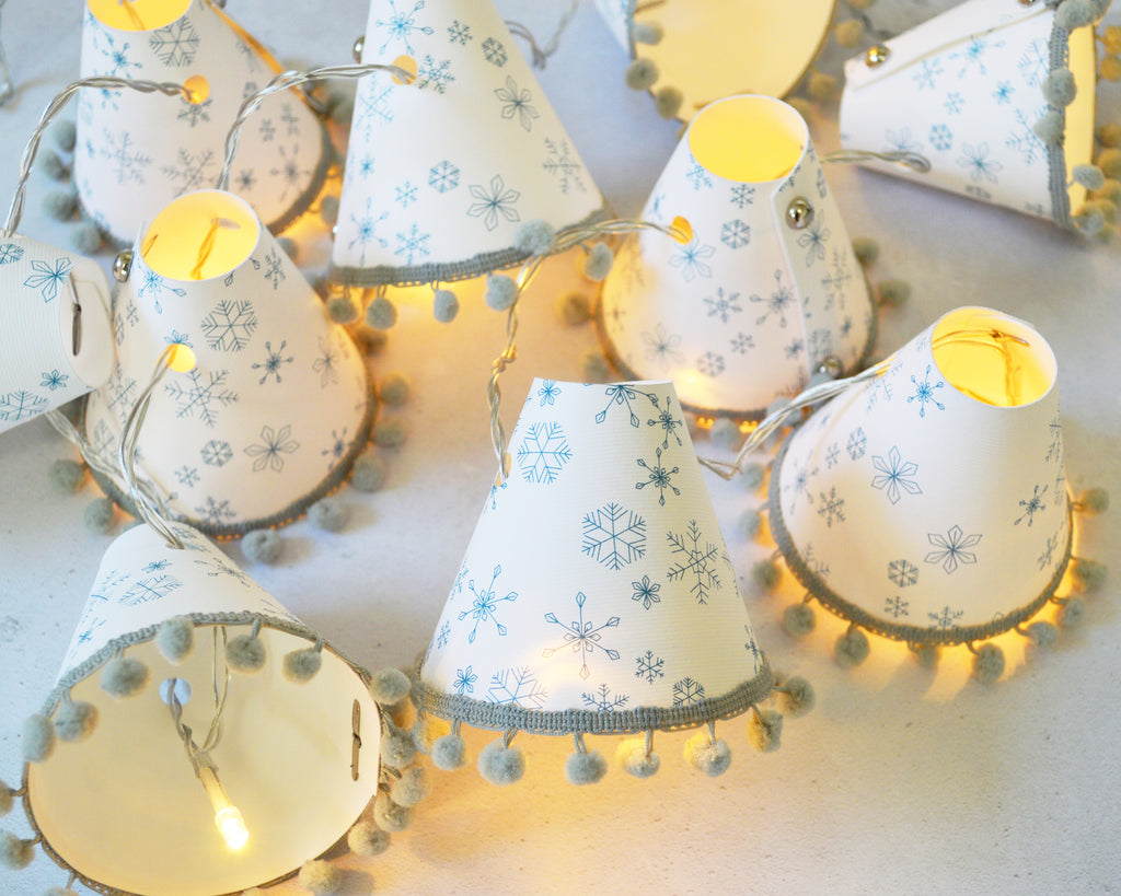 Snowflake Teal Christmas Fairy Lights