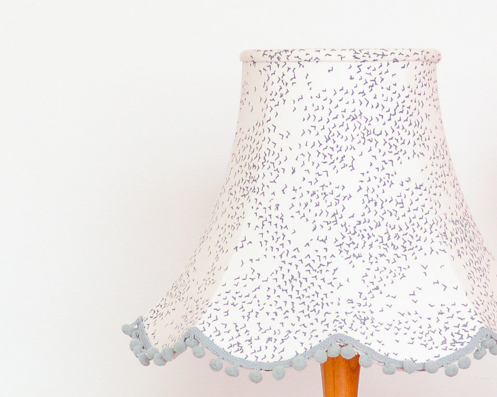 Starlings Grey Bird Traditional Lampshade - Lume + Joanna Corney