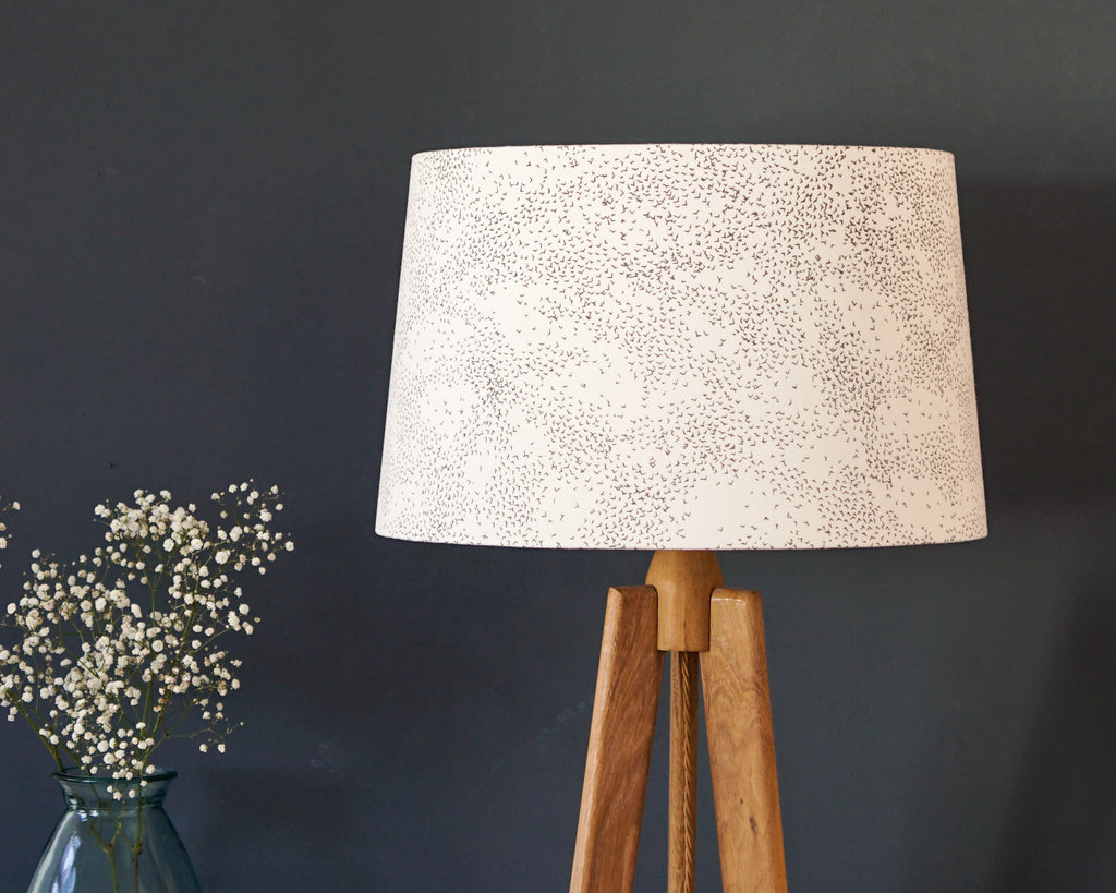 Starlings Grey Bird Tapered Lampshade