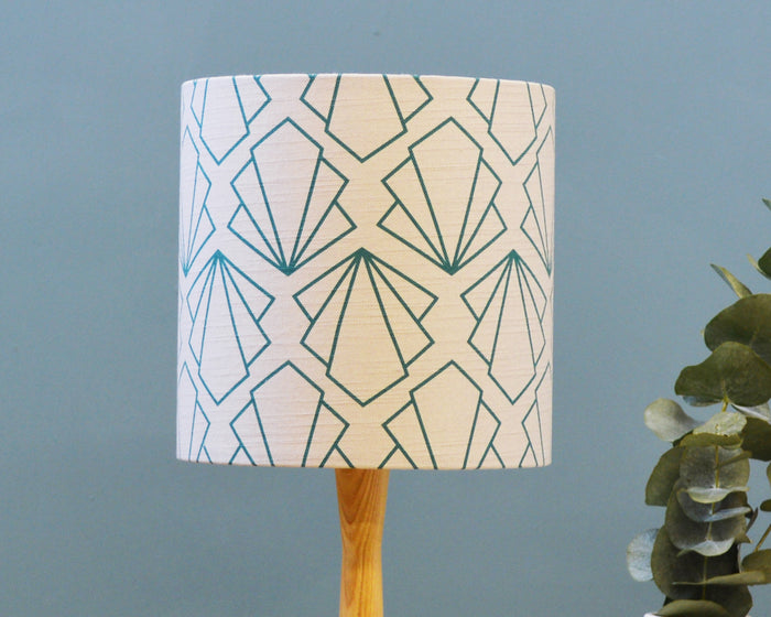 Geometric Grey Table Lamp