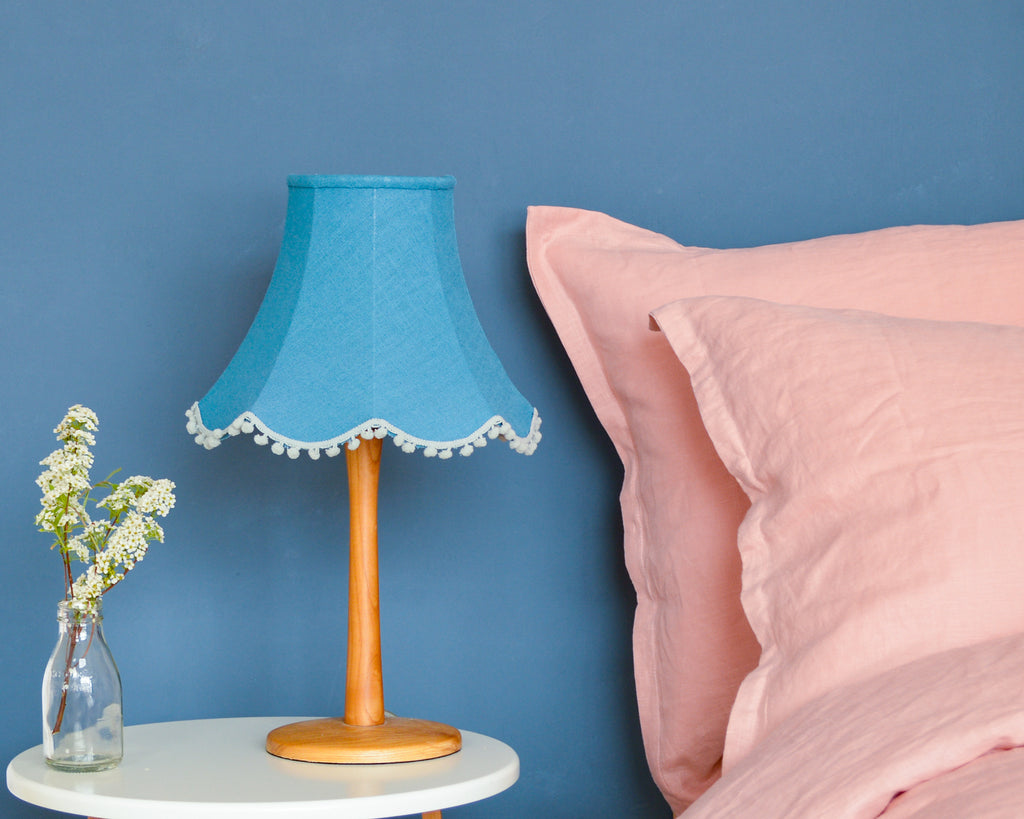 Teal Linen Traditional Lampshade