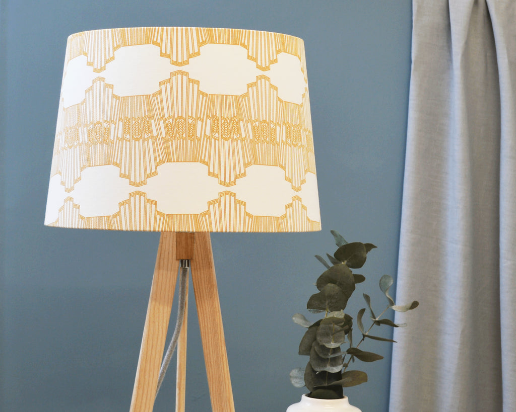 Yellow Tapered Table Lamp Shade