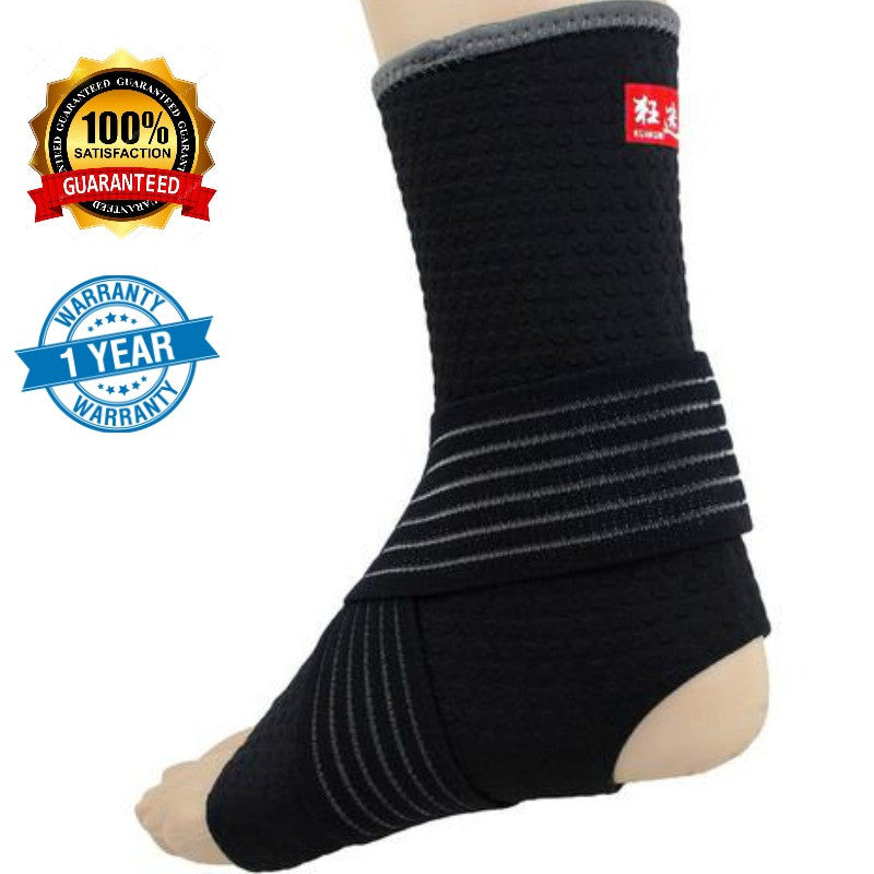 Adjustable Compression Ankle Support - Kuangmi (1 Piece/Black)