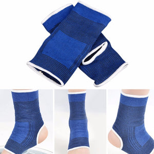 Elastic Compression Ankle Support - Aolikes (Blue, 1 Piece)