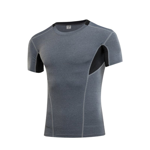 Men's Performance Compression Short Sleeve Raglan Crew Neck Shirt