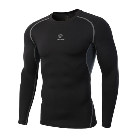 Men's Performance Compression Long Sleeve Raglan Crew Neck Shirt