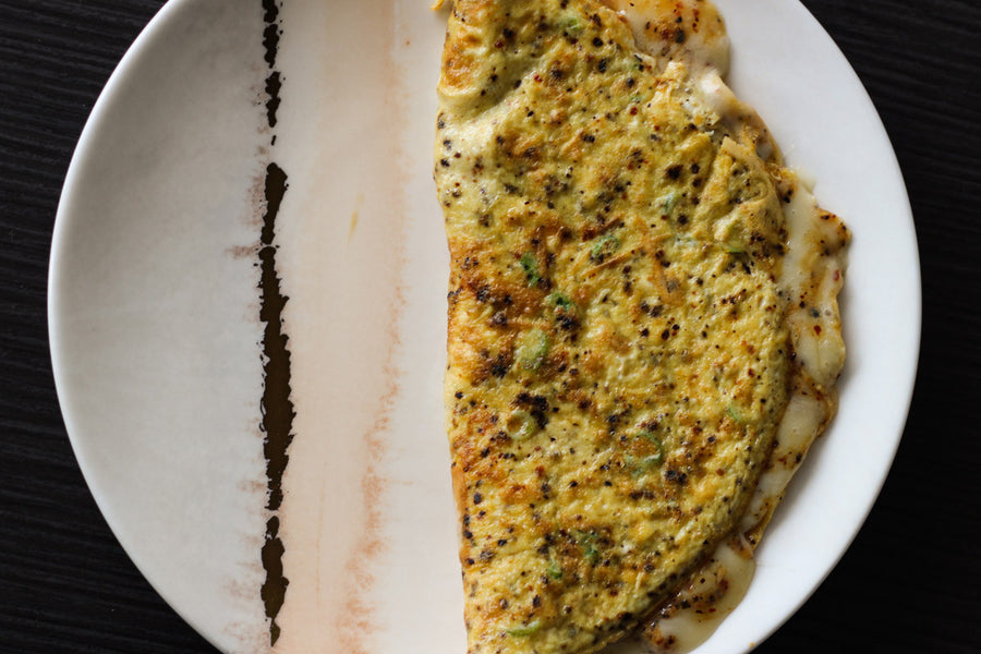 Taleggio and Urfa Omelette