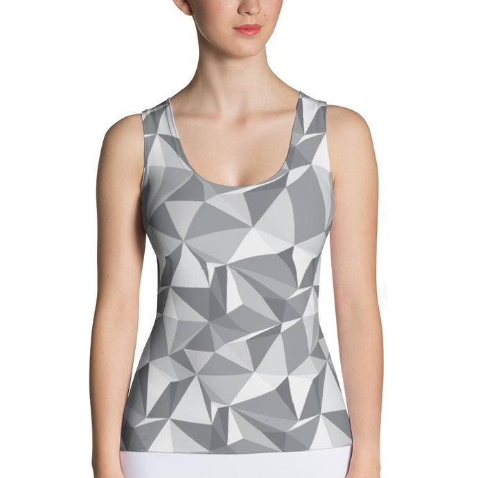 Gray Triangle Tank Top