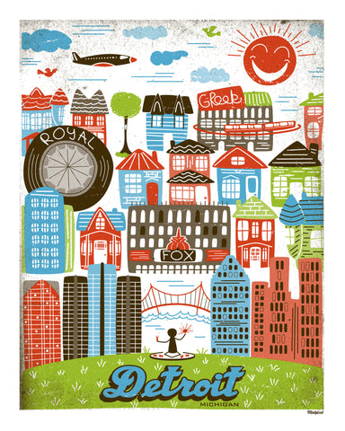 Detroit Neighborhood Print