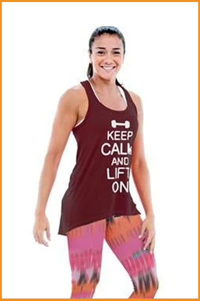 Keep Calm Fitness Tank