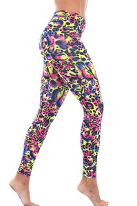 Multicolor Leopard Fitness Leggings