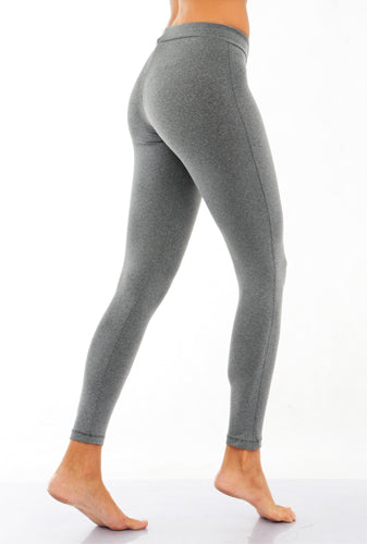 Contrasting Color Seam Leggings *Charcoal