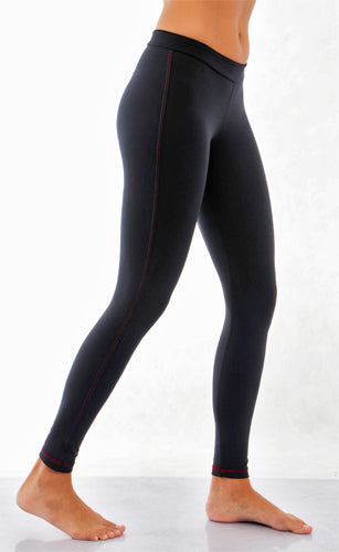 Contrasting Color Seam Leggings