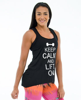 Keep Calm Hi-LoTank Top *Black