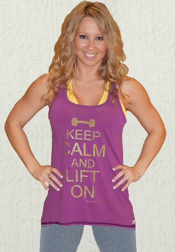 Keep Calm Relaxed Fit Tank *Berry