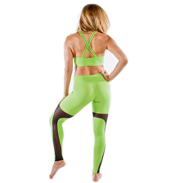 GREEN YOGA OUTFIT FOR WOMEN, WORKOUT GEAR