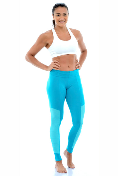 MESH PANEL YOGA LEGGINGS
